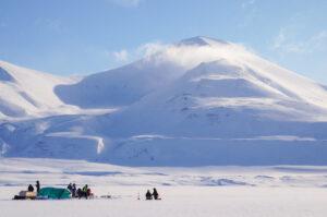 Out in the field (Rebecca Duncan): Ice-algae field laboratory in Van Mijenfjorden, Svalbard.