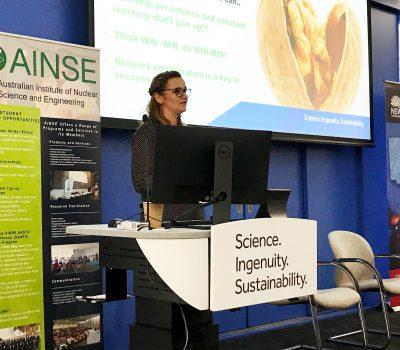 Anna Paradowska presenting at WISE 2018